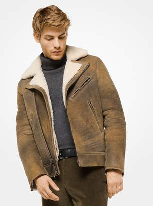 Michael Kors Shearling Moto Jacket