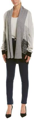 Qi Wool & Cashmere-Blend Cardigan