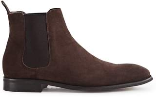 Reiss Our last order date for Christmas has now passed TRITON SUEDE CHELSEA BOOTS Dark Brown