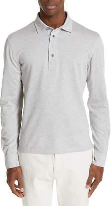 Ermenegildo Zegna Cotton Long Sleeve Polo