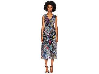 Fuzzi V-Neck Flower Patch Dress