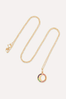Andrea Fohrman Waning Moon 18-karat Gold, Sapphire And Emerald Necklace - one size