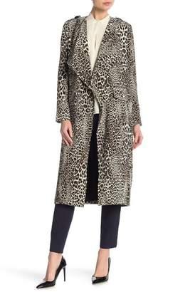 Badgley Mischka Leopard Patterned Trench Coat