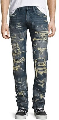 PRPS Super-Distressed Rip Repair Denim Jeans, Indigo $425 thestylecure.com