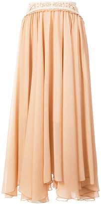 Chloé long fluted skirt