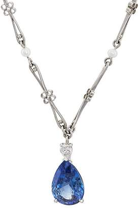McTeigue & McClelland Women's Sapphire On Scroll-Chain Necklace