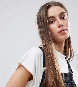 Asos Pack Of 20 Cut Out Hair Cuffs