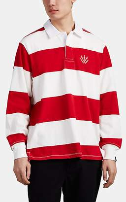 Rag & Bone Men's Striped Cotton Rugby Shirt - Red