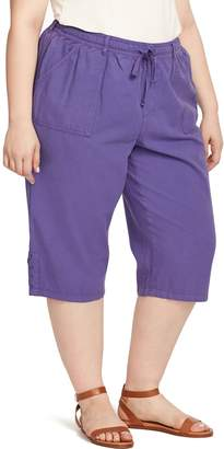 Gloria Vanderbilt Plus Size Lillith Lace-Up Hem Capris