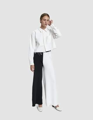 3d1b1c3e8e Half White Half Black Trousers - ShopStyle