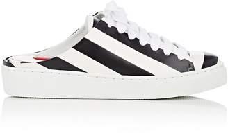 Helena & Kristie Women's Striped Leather Slip-On Sneakers