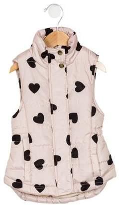 Imoga Girls' Graphic Print Puffer Vest