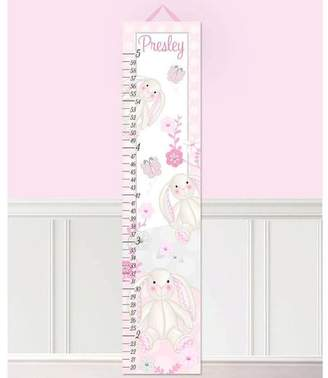 Toad and Lily Bunny Rabbits Personalized Growth Chart Customize: Yes