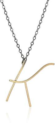 """Melissa Joy Manning Alphabet"""" 14k Gold and Silver Initial T Necklace"""