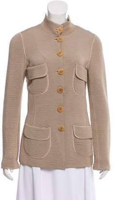 Giorgio Armani Rib Knit Button-Up Cardigan