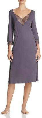 Hanro Ginevra Three-Quarter Sleeve Gown $198 thestylecure.com