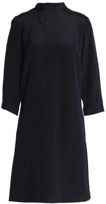 Goat Fortune Bow-Embellished Silk Crepe De Chine Dress
