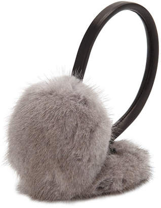 Surell Leather & Mink Fur Earmuffs