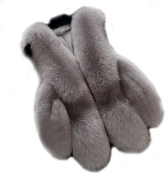 In-fashion style Women's Gilet Outwear Coat Faux Fur Vest Waistcoat Winter Fur Jacket