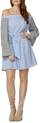 Sass Indi Tie Waist Bell Sleeve Dress