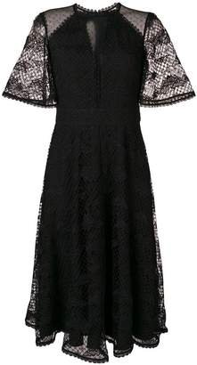 Temperley London Haze lace sleeved dress