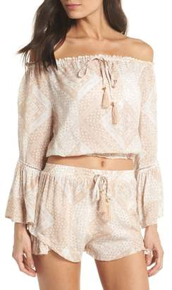 Surf Gypsy Tassel Trim Cover-Up Top