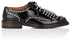 Clergerie Women's Roeloc Studded Spazzolato Leather Oxfords - Black