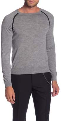 The Kooples Long Sleeve Contrast Trim Sweater