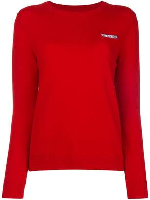 Parker Chinti & slogan detail sweater