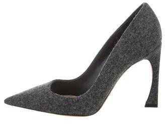 Christian Dior Felt Pointed-Toe Pumps