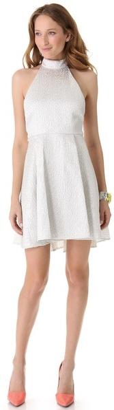 Alice + Olivia Corina Trapeze Hem Dress