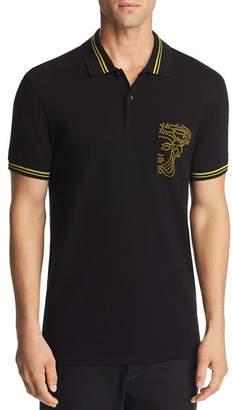 Versace Dotted Logo-Pocket Polo Shirt