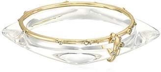 Alexis Bittar Geometric Linked Bangle Set with Satellite Crystal Detail Bangle Bracelet