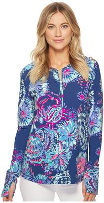 Lilly Pulitzer UPF 50+ Luxletic Delaynee Meryl Nylon Half Zip Women's Swimwear