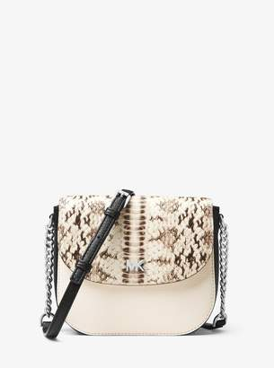 MICHAEL Michael Kors Mott Snake-Embossed Leather Dome Crossbody