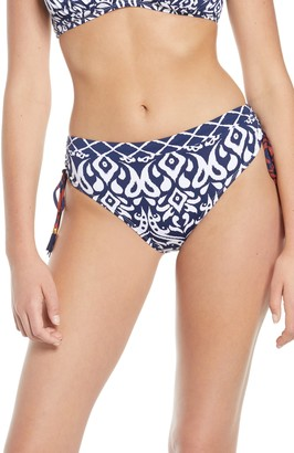 Tommy Bahama Ikat Print High Waist Bikini Bottoms