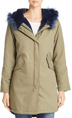 Kenneth Cole Faux-Fur Trimmed Anorak