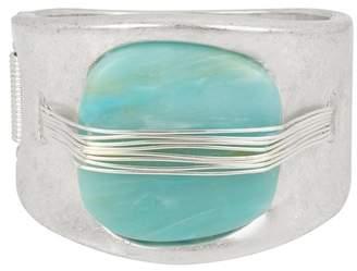 Robert Lee Morris Wire Wrapped Green Stone Bracelet