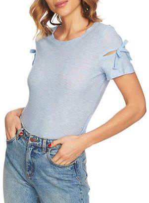 CeCe Short-Sleeve Knit Top