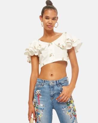 Topshop Moto Floral Jamie Jeans