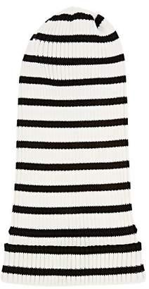 Marc Jacobs Women's Striped Cotton Beanie - White Pat.