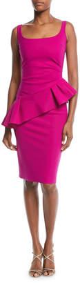 Chiara Boni Cicci Sleeveless Diagonal Ruffle Cocktail Dress
