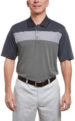 Equipment Men's Pebble Beach Classic-Fit Texture-Striped Performance Golf Polo