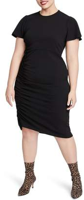 Rachel Roy Pippa Ruched Sheath Dress