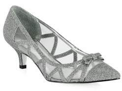 Adrianna Papell Lana Mesh Bow Pointy Pumps