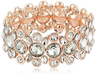T Tahari Womens Essentials Stretch Bracelet with Stones