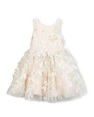 Zoe Sleeveless Tulle Butterfly Dress, Blush, Size 7-16 $330 thestylecure.com