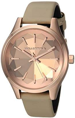 Karl Lagerfeld Women's Janelle Quartz Stainless Steel and Leather Casual Watch