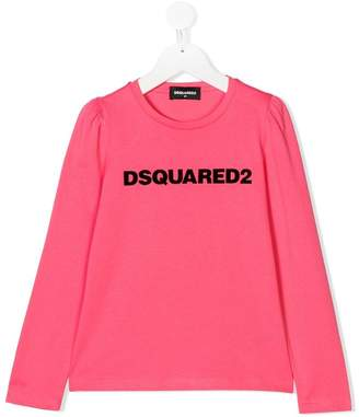 DSQUARED2 logo print top