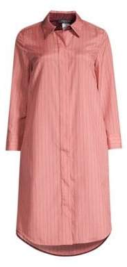 Lafayette 148 New York Women's Peggy Stripe Shirt Dress - Vintage Rose - Size Medium